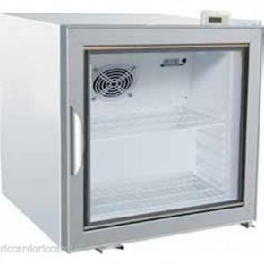 ARMADIO FRIGORIFERO 1 ANTA VETRO +2/+8 C BIANCO Armadietto Refrigerato Snack 68