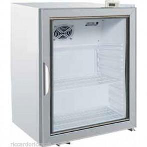 ARMADIO FRIGORIFERO 1 ANTA VETRO +2/+8 C BIANCO Armadietto Refrigerato Snack 115