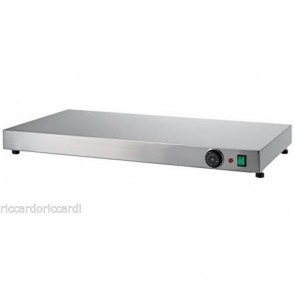 PIANO CALDO cm 100X50X6H IN ACCIAIO INOX Professionale Mantenimento Pizza 90 C