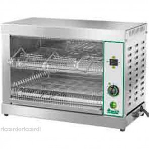 TOSTIERA PROFESSIONALE A 6 PINZE Inox Tostapane Toast Pizzette Bar Panini 3300 W