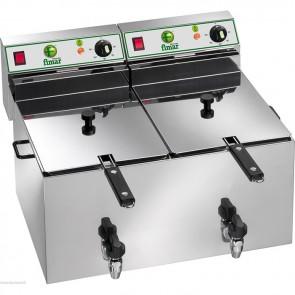 Friggitrice elettrica professionale per pub bar paninoteche ristoranti 8+8 Litri