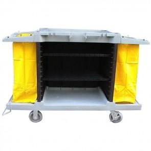 Carrello pulizia in plastica cm 150X54X99H per pulizie al piano hotel carrelli