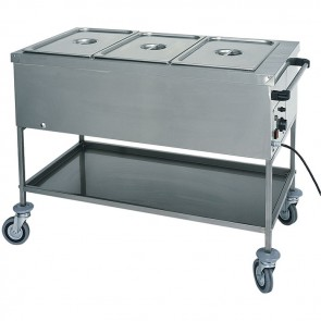 Carrello termico professionale in acciaio inox per ristorazione Hotel Bagnomaria
