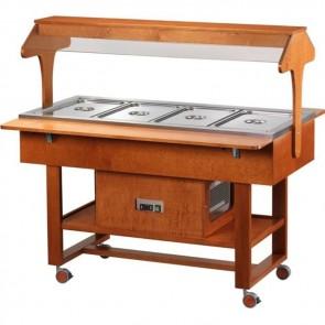 ESPOSITORE REFRIGERATO professionale cibi freddi legno PER BUFFET ristoranti C
