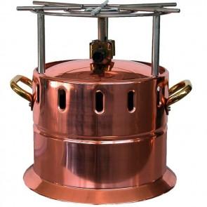 FORNELLO FLAMBE A GAS IN RAME CON GRIGLIA INOX professionale  diam. 26 x 29,5h