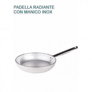 PADELLA Alluminio 5 Ø cm 24X4,5H Radiante 1 MANICO Professionale Pentole Agnelli