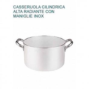 CASSERUOLA Alluminio 5 Øcm28X16H Radiante 2 Manici Professionale Pentole Agnelli