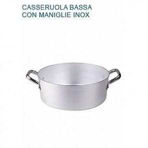 CASSERUOLA BASSA Alluminio Ø cm 40X14H 2 MANIGLIE mm 2 Padella Pentole Agnelli