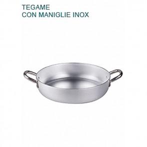 TEGAME In Alluminio Ø cm 26X6H Padella Bassa 2 mm Professionale Pentole Agnelli
