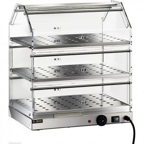 Vetrina riscaldata cm 50x35 3 piani Brioches Professionale Plexiglass vetrinetta
