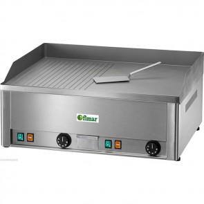FRY top elettrico professionale piastra liscia e rigata doppia bistecchiera TF