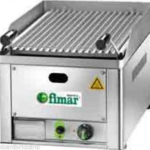 Griglia A Pietra Lavica Gas Singola Professionale Grigliato in acciaio inox GL