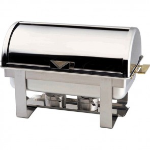 CHAFING DISHES con coperchio roll top cm 65x47x45H professionale scaldavivande