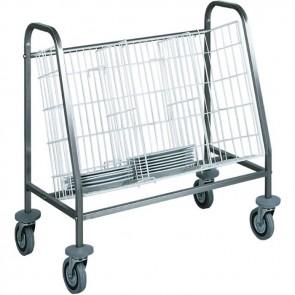 Carrello ritiro distribuzione vassoi 100 piatti Stoviglie PROFESSIONALE 1 cesto