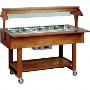 ESPOSITORE CALDO BAGNOMARIA professionale per buffet ristoranti Wenge legno