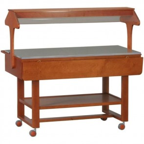 ESPOSITORE IN LEGNO NEUTRO professionale Mensole WENGE legno massello buffet