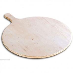 Tagliere per pizza in legno multistrato Ø cm 33 con manico professionale rotondo