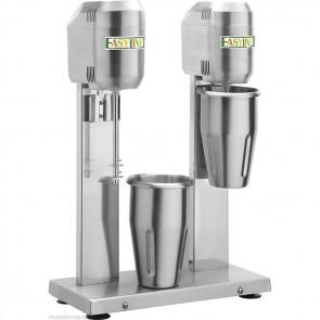 Frullatore frappe' 2 bicchieri in acciaio inox LT 0,8 professionale bar chiosco
