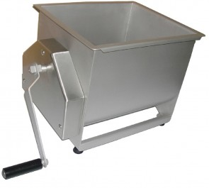 Impastatrice manuale per carne kg 17 due pale bipala ripieno salame mescolatrice