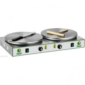 Crepiera elettrica doppia Ø cm 35 Professionale Crepes Creperia Crepiere TF V400