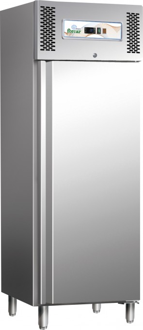 Armadio frigorifero 1 anta GN 2/1 -2° +8° INOX professionale frigo ventilato 650