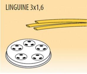 Trafila linguine mm 3x1,6 in lega ottone bronzo per macchina pasta Fimar MPF2,5N e MPF4N