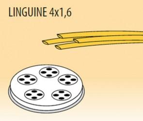 Trafila linguine mm 4x1,6 in lega ottone bronzo per macchina pasta Fimar MPF2,5N e MPF4N