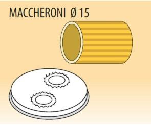 Trafila maccheroni Ø mm 15 lega ottone bronzo per macchina pasta Fimar MPF1,5N