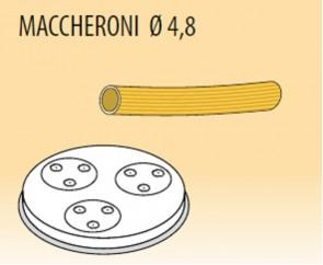 Trafila maccheroni Ø mm 4,8 lega ottone bronzo per macchina pasta Fimar MPF1,5N