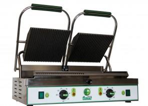 PIASTRA DI COTTURA IN GHISA doppia rigata sopra e mista sotto piastre panini bar TF V 400