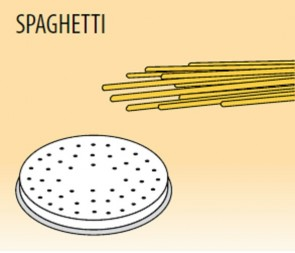 Trafila spaghetti Ø mm 2 in lega ottone bronzo per macchina pasta Fimar MPF1,5N