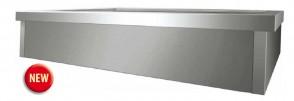 Vasca bagnomaria da incasso 4 GN 1/1 cm 144X68X20H drop-in acciaio inox