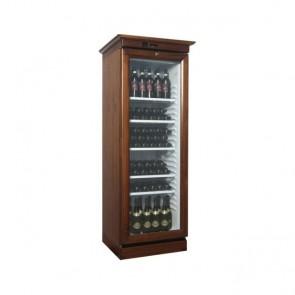 Vetrina refrigerata per vini in legno 1 anta vetro +2°/+8° C professionale 310 L