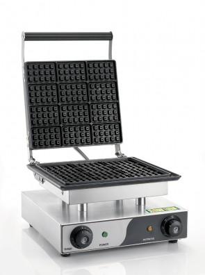 Macchina per waffle con piastra teflonata mm 275X245 machine wafflemaschine