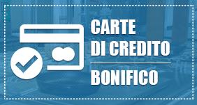 Carte di credito - Bonifico